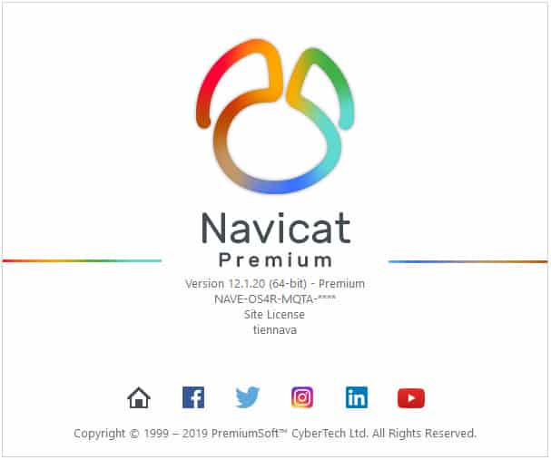 key navicat version 12.1.20